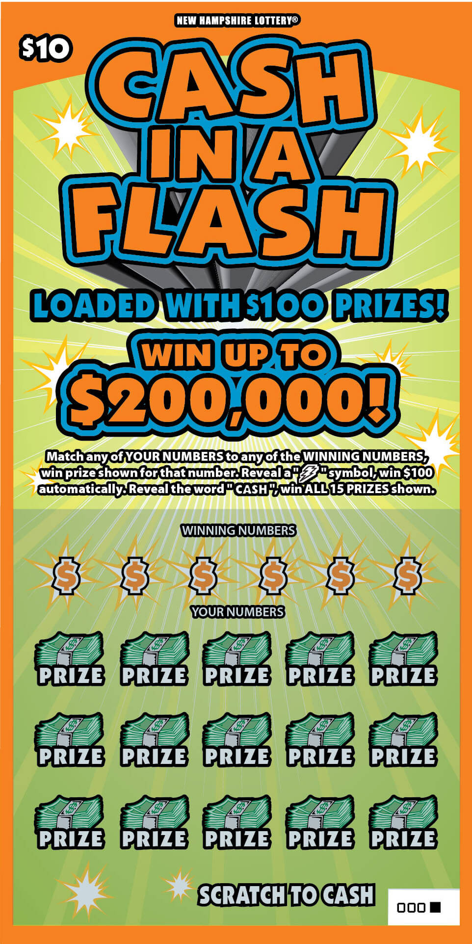 Cash In A Flash New Hampshire Lottery